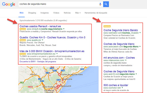 Resultados Google Adwords