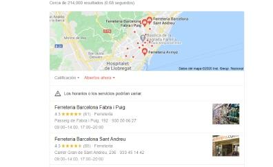 Paquete Local de Google