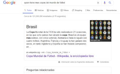 Resultado cero Google