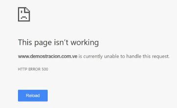 Error 500 en WordPress